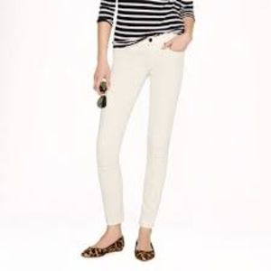 J. Crew Ankle Toothpick Jeans in Ecru